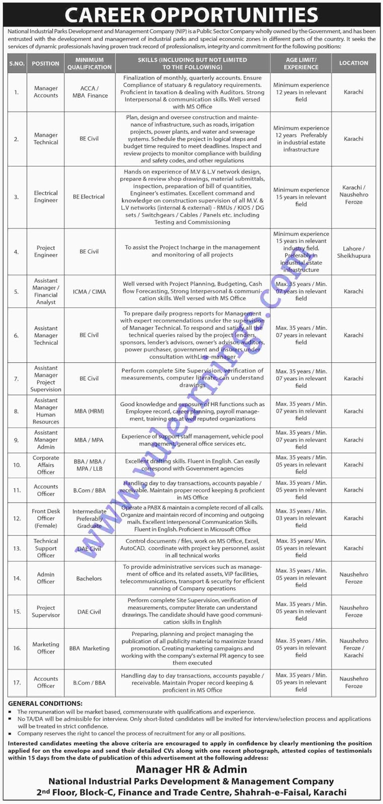 Job in national industrial Parks Development and Management Company