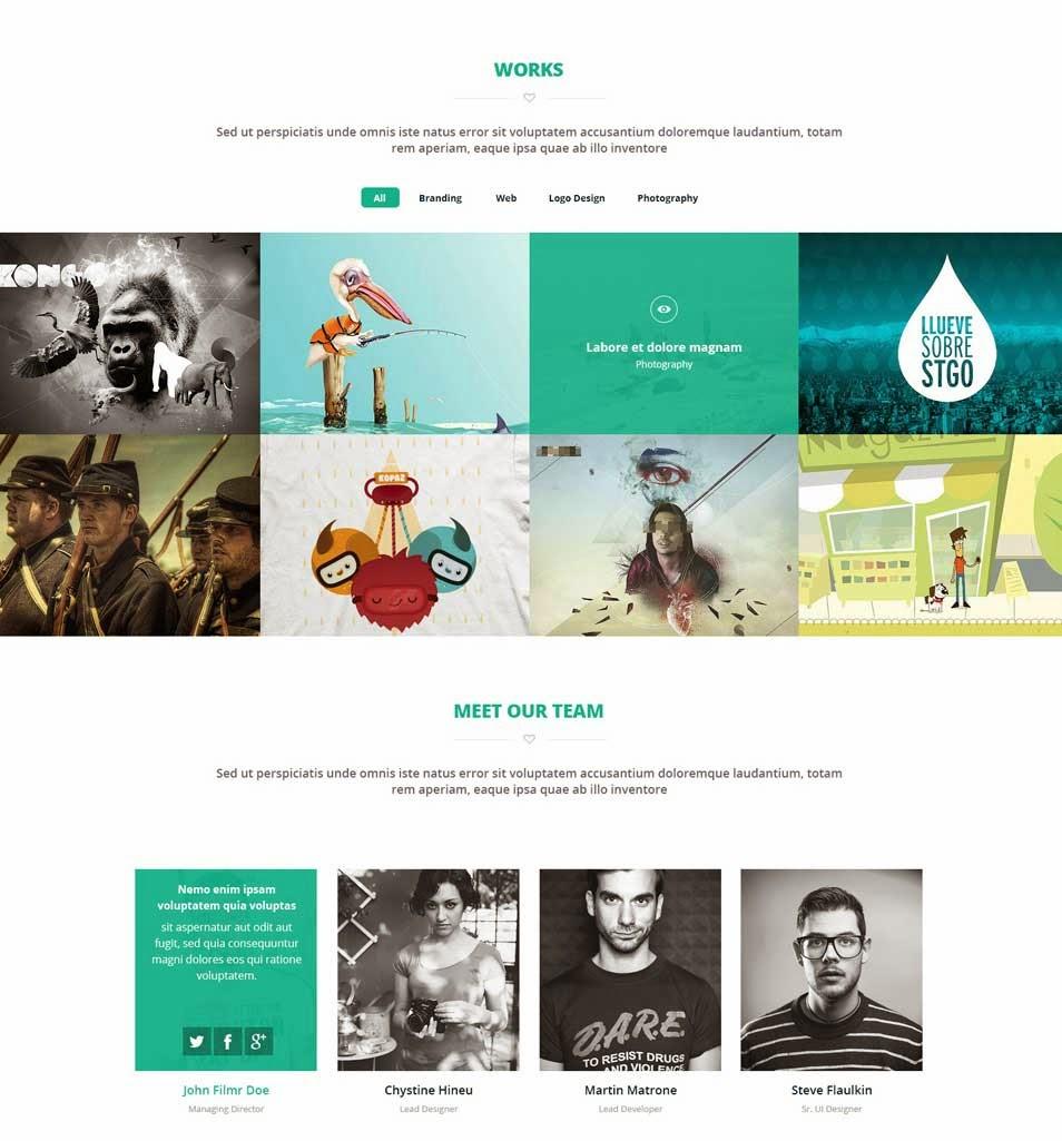 Brandi - Creative One Page Multi-Purpose PSD Template