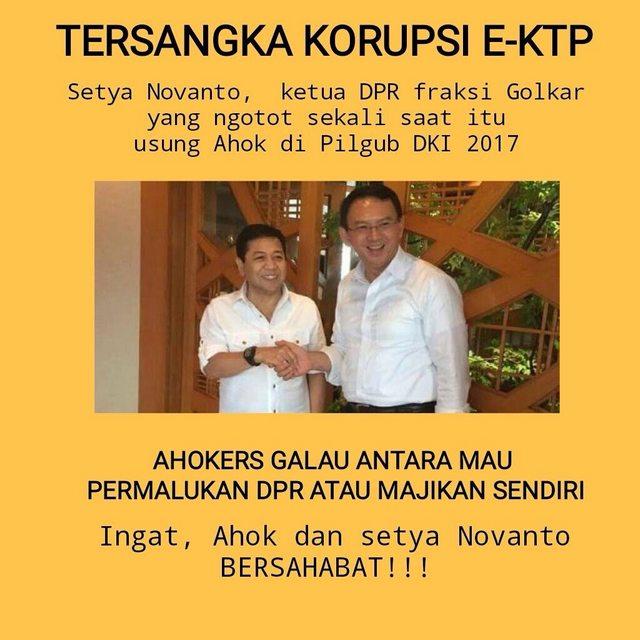 "ek4 - Setnov ""Papa Ahok"" Tersangka E-KTP, Netizen: Seret Semua, Termasuk Ahok"