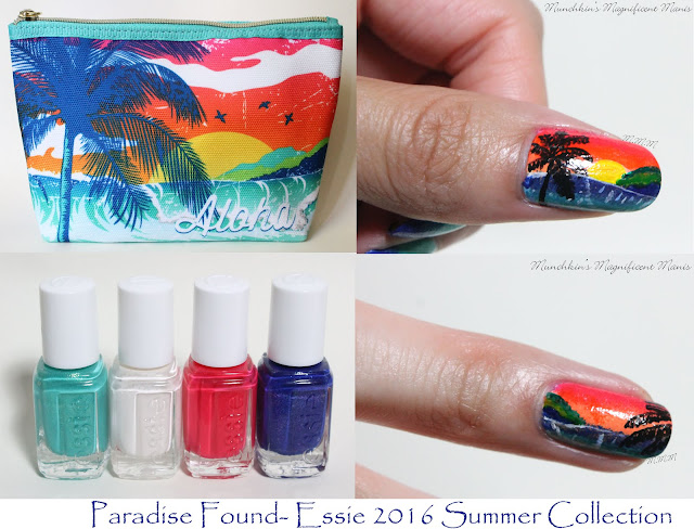 Tropical Nail Design and Essie 2016 Summer Collection