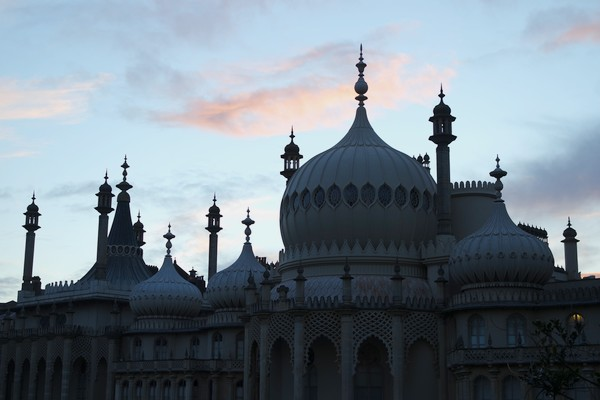 brighton royal pavilion sunset