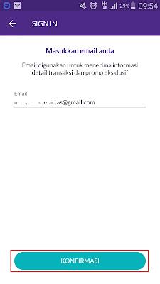 cara verifikasi email ovo cash