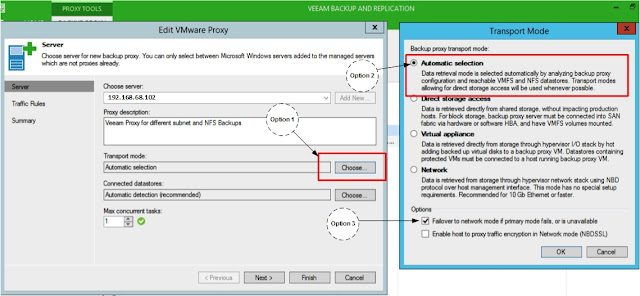 Veeam: How to enable Direct NFS Access backup Access feature