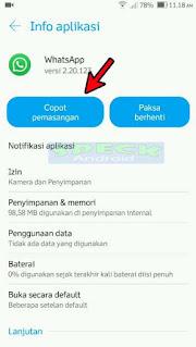 Info Aplikasi Copot Pemasangan WhatsApp Original