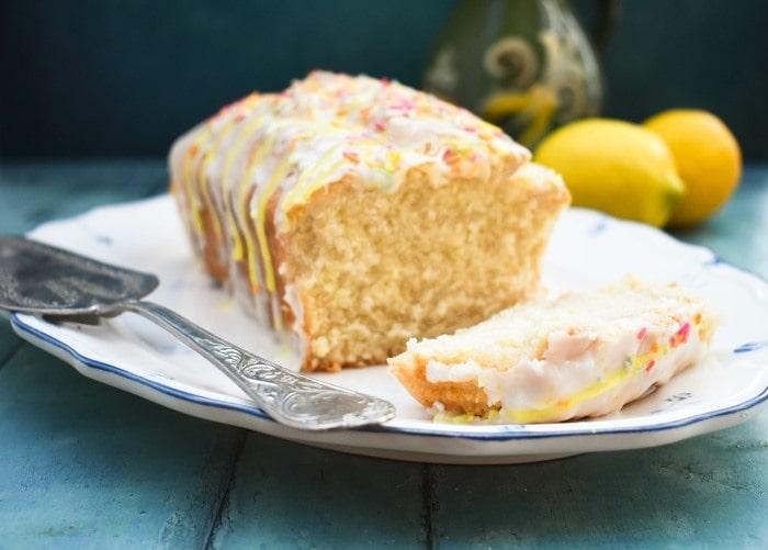 Easy Vegan Lemon Drizzle Cake