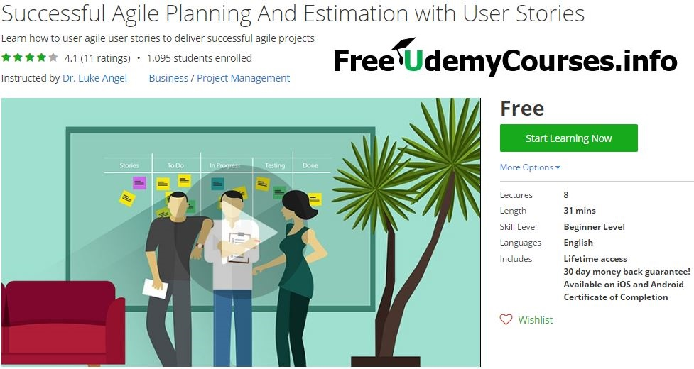 Udemy BlackFriday Successful Agile Planning And