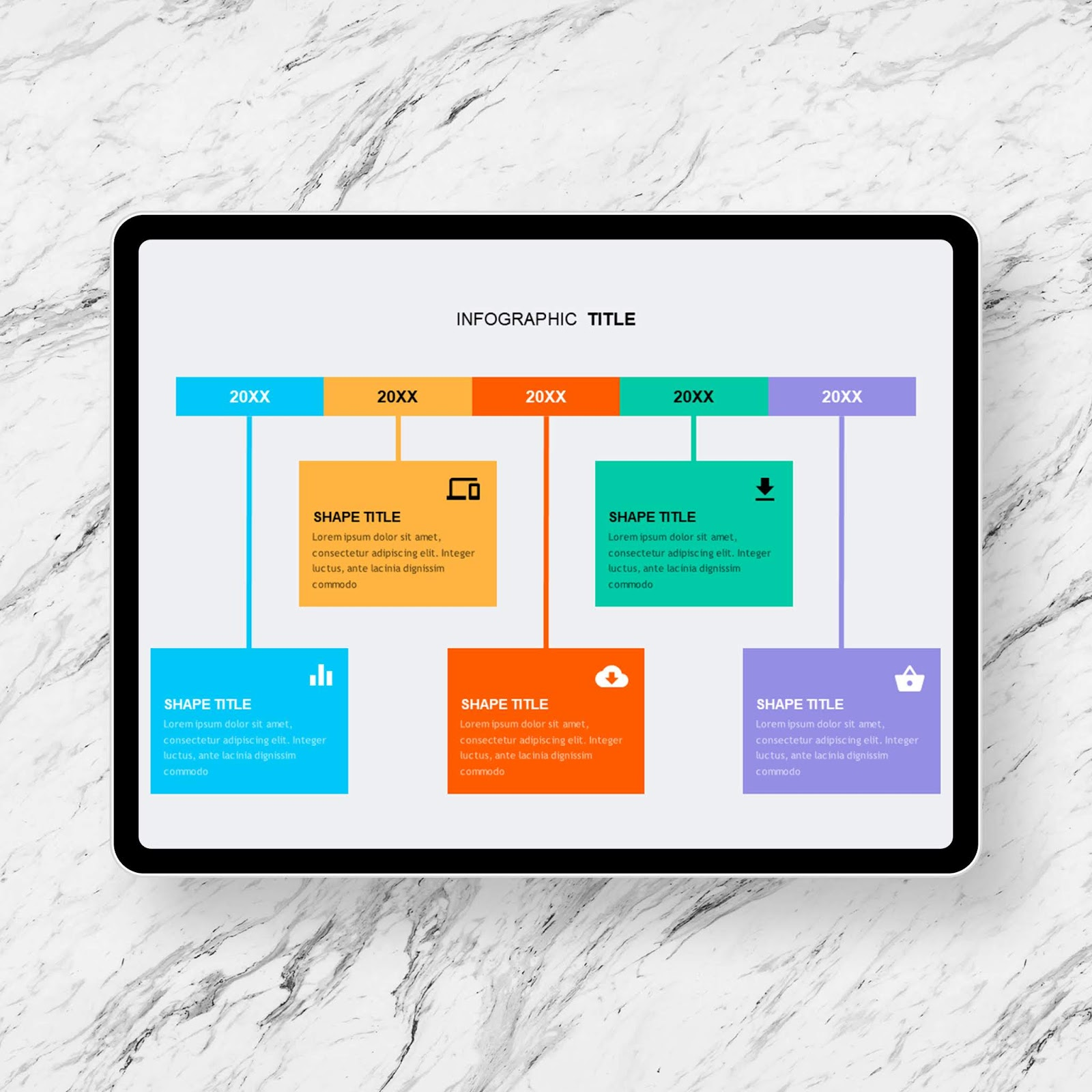 Timeline Contents Box PowerPoint Templates