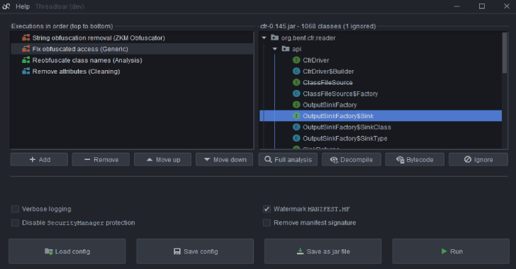 Threadtear : Multifunctional Java Seobfuscation Tool Suite