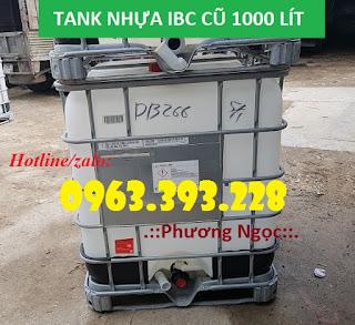 Tank nhựa IBC 1000L đã qua sử dụng, bồn nhựa đựng hóa chất B3b99224e1e503bb5af4