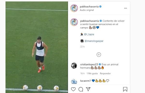 Málaga, Pablo Chavarría ya toca balón