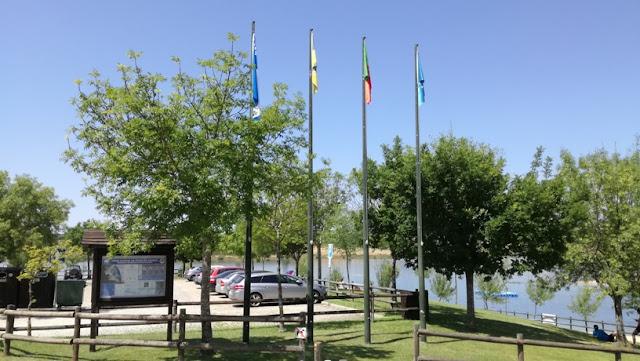 Bandeira Azul Praia da fraga da Pegada