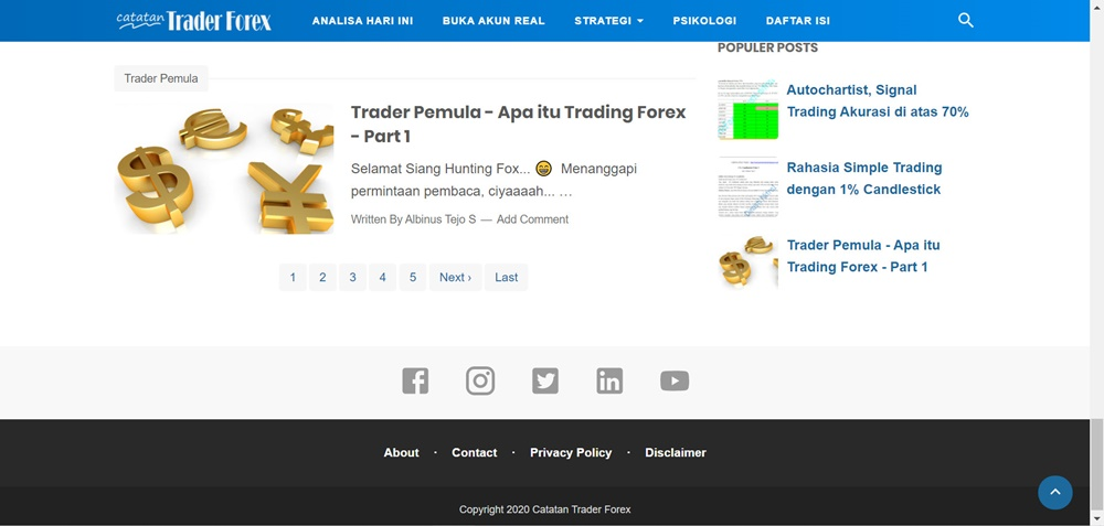 Catatan Trader Forex buttom