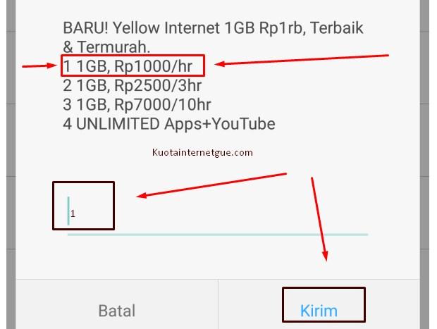 Cara Daftar Paket Yellow Indosat Via Kode Dial Terbaru 2019 2