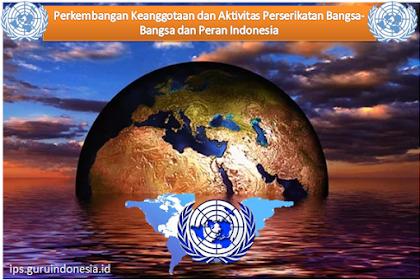 Perkembangan Keanggotaan dan Aktivitas Perserikatan Bangsa-Bangsa dan Peran Indonesia
