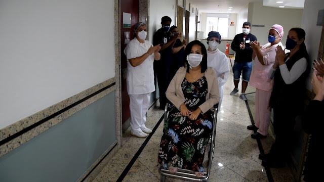 Mariene Mercês Dutra teve alta no Hospital Unimed Petrópolis