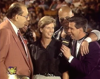WWE / WWF - Summerslam 1997 - Gorilla Monsoon, The Headbangers, Todd Pettengill and The Governor of New Jersey