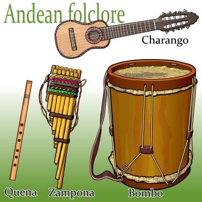 南米アンデスのフォルクローレで使われる楽器 Andean folclore