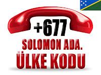 +677 Solomon Adaları ülke telefon kodu