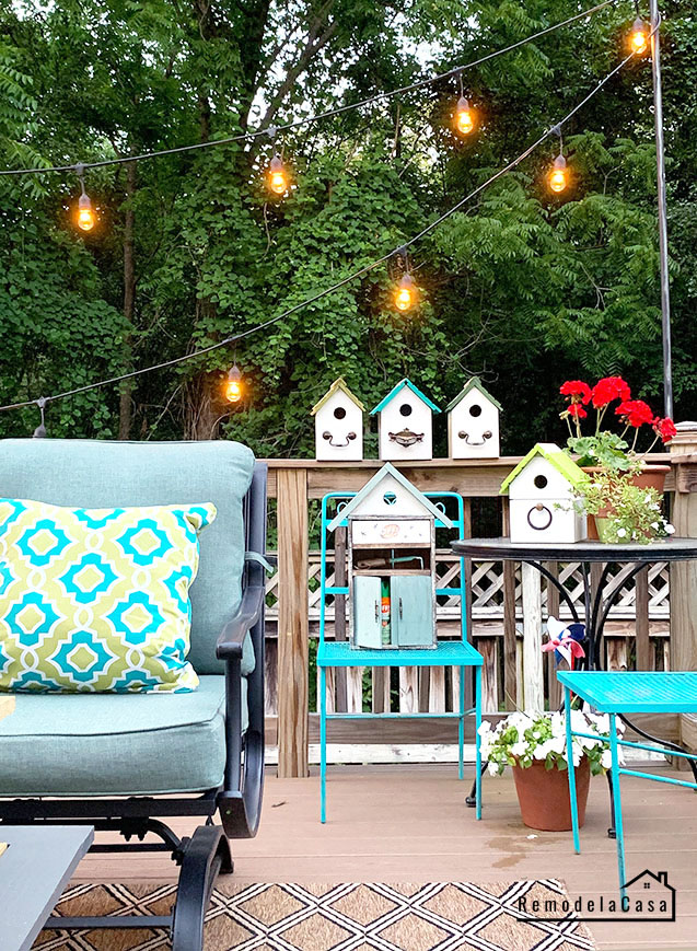 how to hang string lights on deck