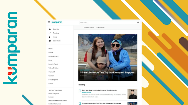 Kumparan.com Magazine News Blogger Template