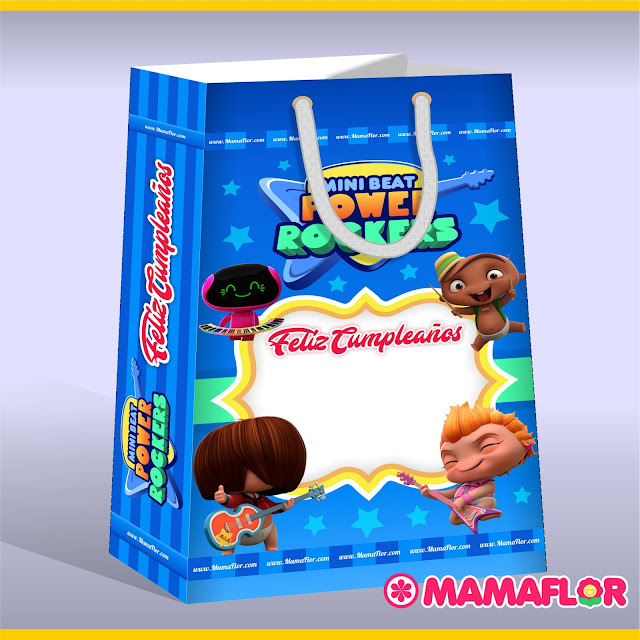 Caja Sorpresa de Mini Beat Power Rockers para Fiesta de Niño