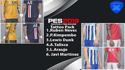 PES 2019 Tattopack V1 by AMFST