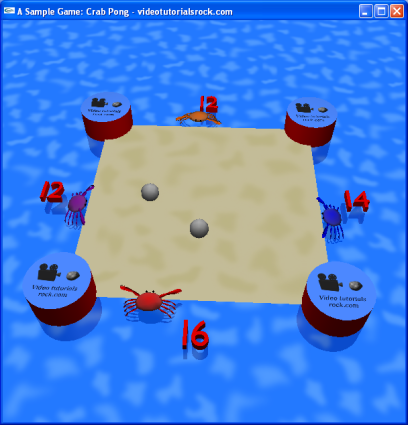 OpenGL Projects: Draw Crab Pong Game using OpenGL