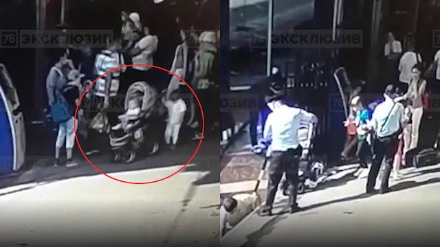 Камера сняла, как в Питере 2-летняя сестра упала на рельсы с младенцем, пока родители болтали рядом