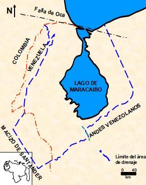 Ubicación de la Cuenca del Lago de Maracaibo