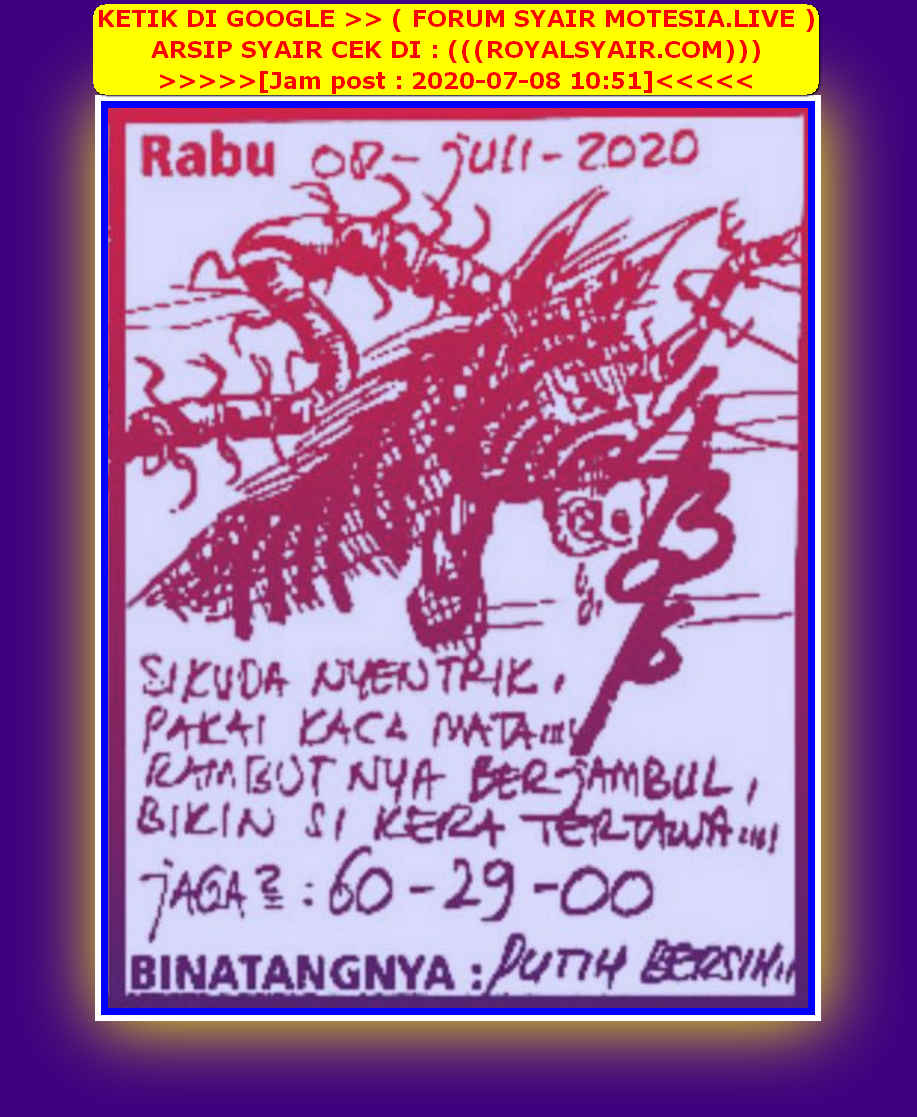 Kode syair Singapore Rabu 8 Juli 2020 41