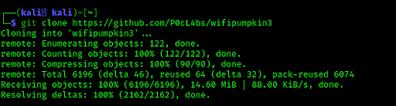 WiFi Pumpkin 3 clonning from GitHub