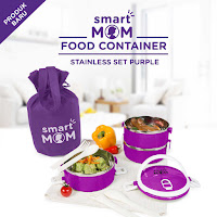 Dusdusan Smart Mom Food Container Stainless Set Purple ANDHIMIND
