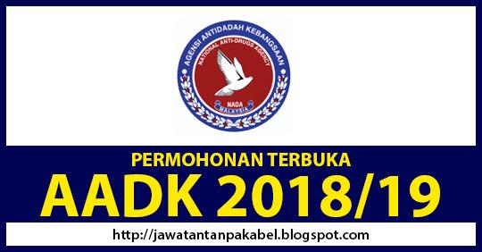 terbuka  permohonan jawatan kosong aadk ambilan 2018  2019