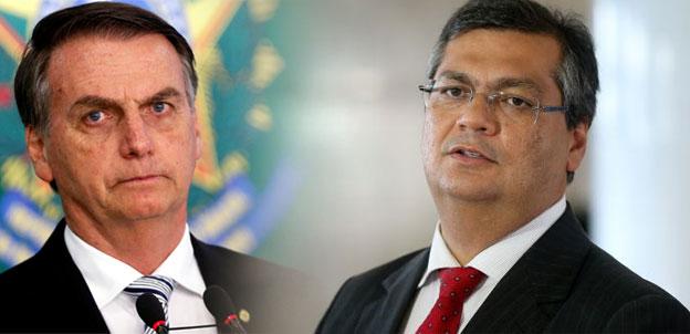 Bolsonaro ignora Flávio Dino em visita ao Maranhão