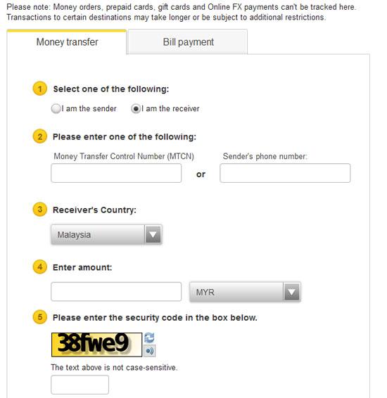 Cara Tracking Pindahan Wang Western Union