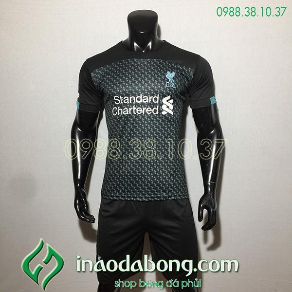 Áo bóng đá câu lạc bộ Liverpool màu đen1 2020