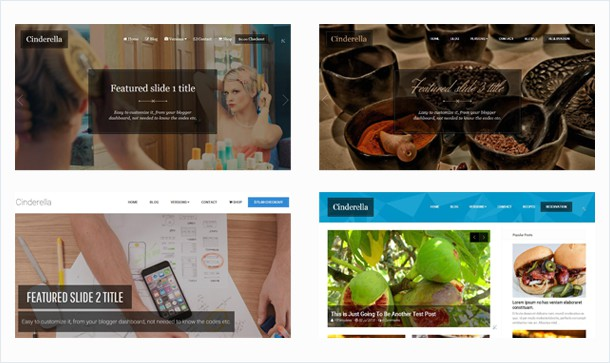 Cinderella is clean and fresh and modern style based responsive blogger design having lots of features support