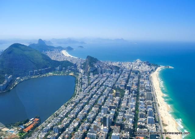 helicopter ride view in Rio de Janeiro