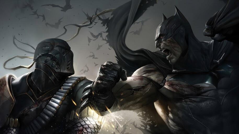 Batman vs Deathstroke, 4K, #6.400
