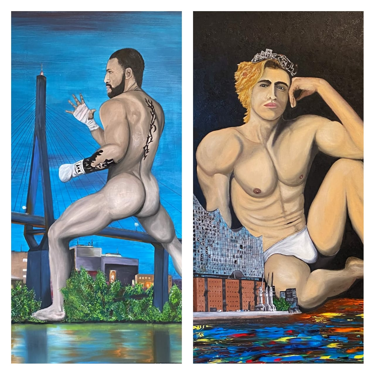 """La colección """"Gigante"""" del pintor Alemán Marco Lux ya cuenta con dos lienzo"""