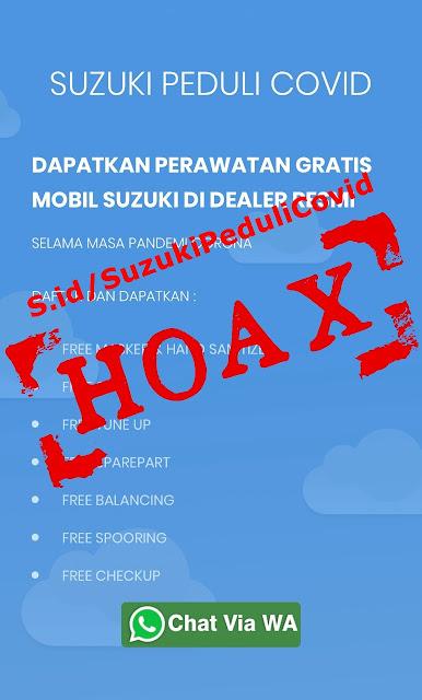 Suzuki Tepis Hoax Program Peduli COVID