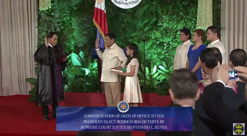 Duterte takes oath as PH's 16th President