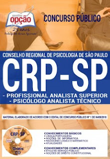 Download Apostila Concurso CRP SP 2018 PDF