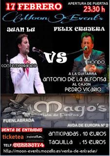 Moon Events, 17 de febrero 2018, Félix Crujera y Juan Lu