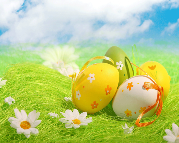 Happy Easter Christian Wishes Greetings Easter Eggs