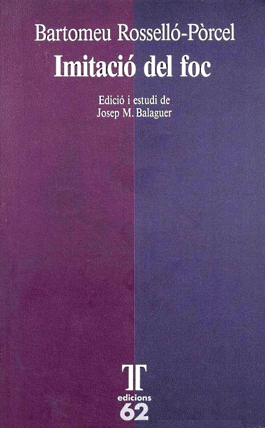'Imitació del foc - Bartomeu Rosselló-Pòrcel'