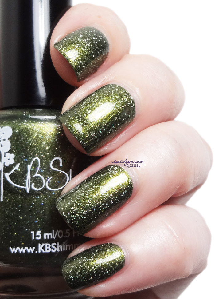 xoxoJen's swatch of KBShimmer Olive Or Twist