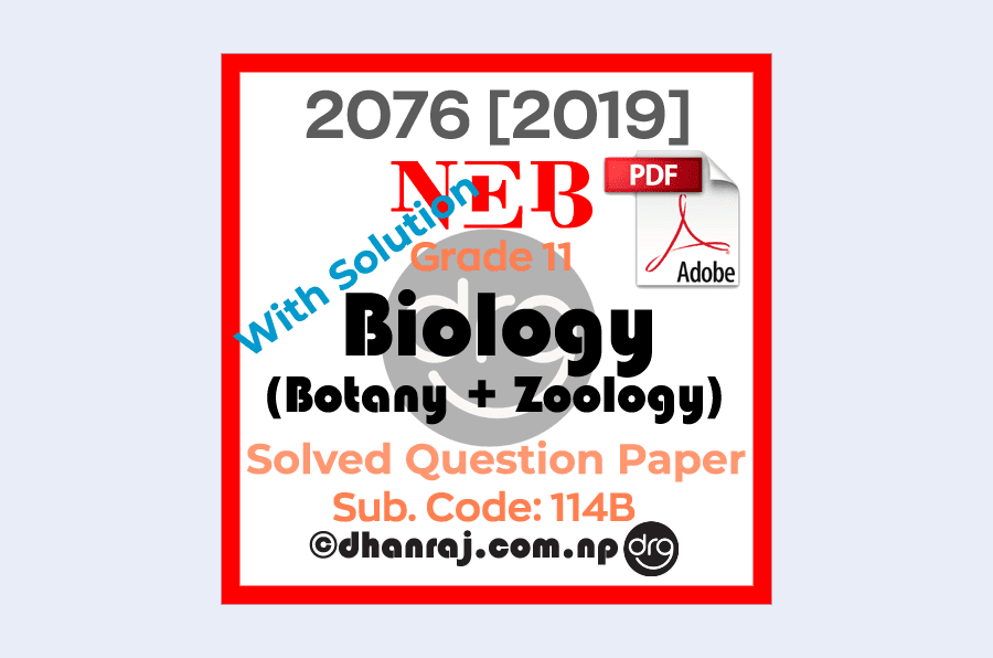 Solved-Biology-Botany-Zoology-Grade-11-XI-Question-Paper-2076-2019-Subject-Code-114B-NEB