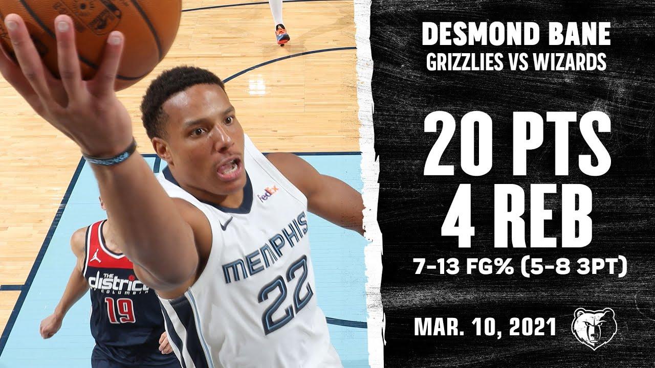 Desmond Bane 20pts  vs WAS | March 10, 2021 | 2020-21 NBA Season