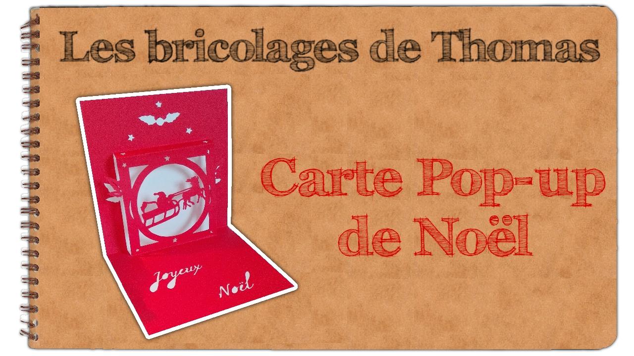 Carte Popup De Noël En Kirigami